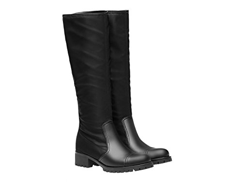 Stivali al ginocchio Prada in pelle e tessuto nero - Codice modello: 3W6110 1O4R F0002 - Taglia: 39 IT
