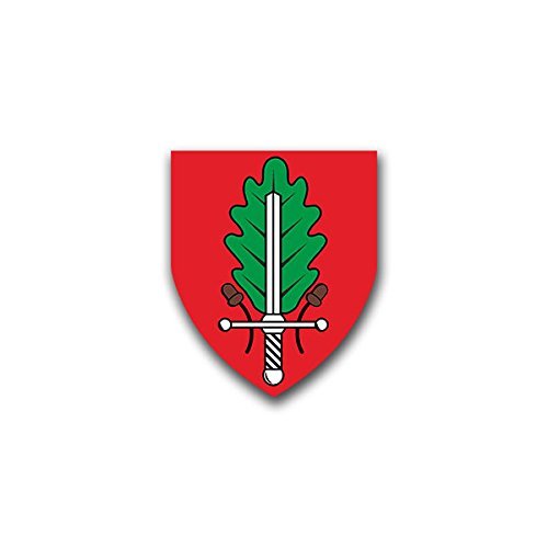 Aufkleber / Sticker - JgBtl 532 Jägerbataillon Heer Euskirchen Bundeswehr Wappen Abzeichen Emblem passend für VW Golf Polo GTI BMW 3er Mercedes Audi Opel Ford (7x6cm)#A1469