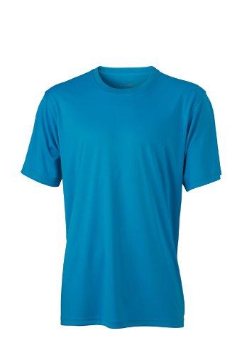 James & Nicholson - Funktions T-Shirt Mens Active, Maglia a maniche lunghe Uomo, Turchese (Turquoise), XXX-Large (Taglia Produttore: XXX-Large)