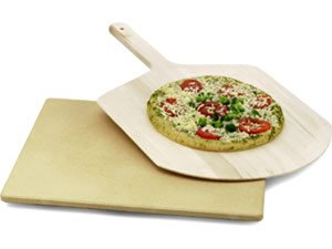 Kitchen Supply Co. Pizza Stone and Peel Set 14x16-in.