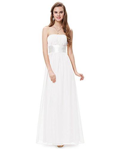 HE09060WH16, White, 14US,Ever Pretty White Dresses For Graduation 09060