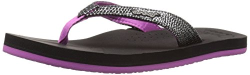 Reef Little Cusion Sassy Kids Sandal (Toddler/Little Kid/Big Kid), Black/Orchid, 13-1 M US Little Kid (Reef Arch 1 compare prices)