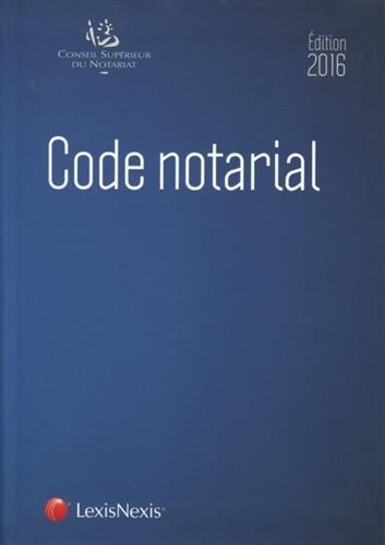 Code notarial 2016