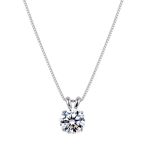 [ジュエリーキャッスル] Jewelry Castle ネックレス 2カラット スワロフスキージルコニア シルバー925 プラチナ仕上げ
