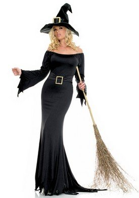 2PC Bewitched Slinky Cauldron Witch Sexy Holiday Party Costume