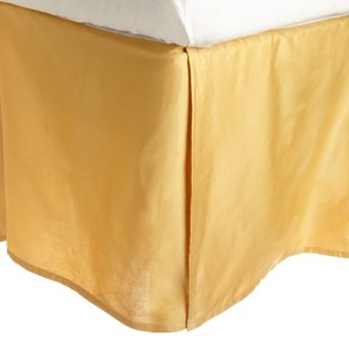 """600 Thread Count 100% Egyptian Cotton Solid Gold King / California King 21"""" Drop Length Bed Skirts front-789349"""