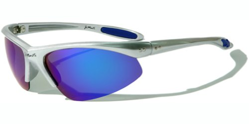 Jimarti JMP8 Polarized Sunglasses for Golf, Fishing, Cycling & Party (Silver & Ice Blue)