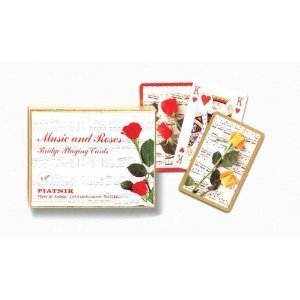 Music and Roses Bridge Playing Cards