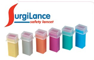 SurgiLance Needle Safety Lancet, 1.8mm, Gray, 100/Bx (Auto Safety Lancets compare prices)
