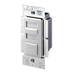 Leviton IPX06-10Z IllumaTech Single Pole or 3-Way 600VA Preset Electronic Mark 10 Powerline Fluore, White / Ivory / Light Almond