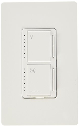 Lutron MA-LFQHW-WH Maestro Fan Control and Dimmer Kit, White (Ceiling Fan Install Kit compare prices)