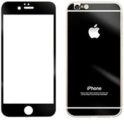I PHONE 6 FRONT & BACK COLOURED GLASS BLACK