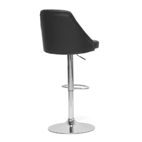 Baxton Studio Salzburg Modern Bar Stool Black Home Garden