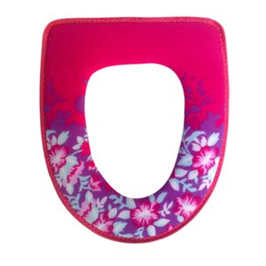 Home Toilet Mat Toilet Seats Toilet Cover Warmer Stick Buckle K0791 (Rose Red)
