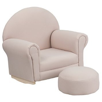 Flash-Furniture-Kids-Beige-Fabric-Rocker-Chair-and-Footrest