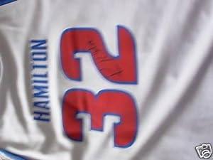 RICHARD RIP HAMILTON signed DETROIT PISTONS Jersey COA - Autographed NBA Jerseys by Sports+Memorabilia