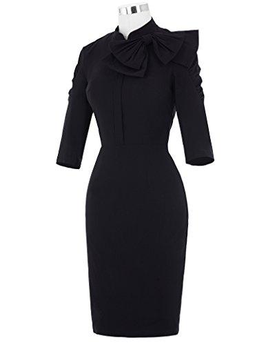 Belle Poque Women 50s Bodycon Dress Slim Vintage Pencil Dress BP106/146 4