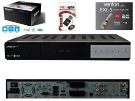 Venton UniBoX HD3 1x DVB-S2 HDTV Linux Sat Receiver super Bundle