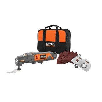 Factory-Reconditioned Ridgid ZRR82235 12V Cordless JobMax Oscillating Multi-Tool Starter Kit
