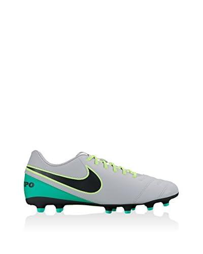 Nike Stollenschuh Jr Tiempo Rio III Fg grau/schwarz/türkis