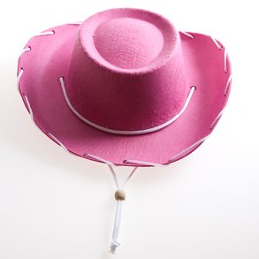 Children's Pink Felt Cowboy Hat