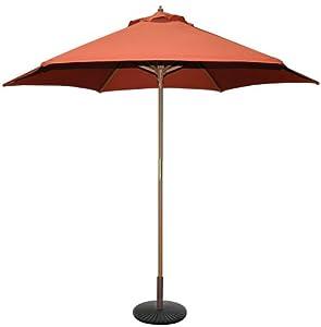 tropishade 9 feet bronze light wood market umbrella qz3l. Black Bedroom Furniture Sets. Home Design Ideas