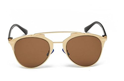 GAMT-occhiali da sole moderna di tablet full metal traversa aviator (Donna Gold-brown ...)