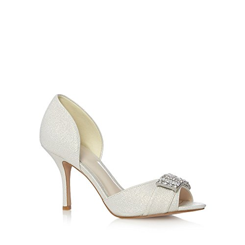 No. 1 <strong>Jenny Packham Womens Designer Ivory Diamante Court <strong>Shoes