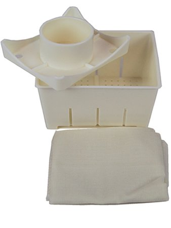 Plastic Tofu Mold / Press with Cheesecloth - 5