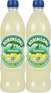 Robinson's Lemon Barley Water, 850ml Bottle 2 Pack
