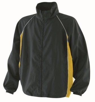 Finden & Hales LV610 Mens Piped Showerproof Training Jacket Black/Yellow/White 2XL