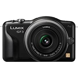 Panasonic Lumix DMC-GF3KK 12 MP Micro 4/3 Compact System Camera with 3-Inch T...
