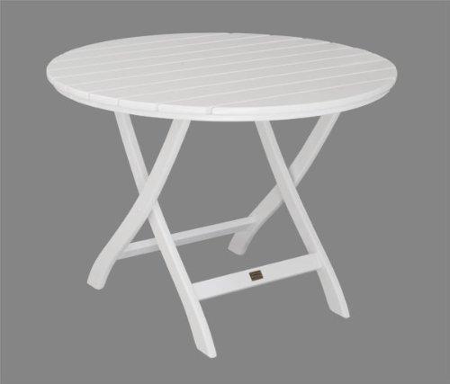 Gartentisch Mainau klappbar 100 cm rund – Nostalgie aus Holz – weiß lackiert – Qualität aus Deutschland kaufen