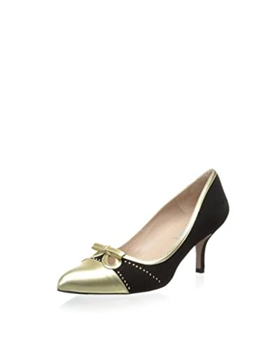 Pura Lopez Women's Cutout Pump with Bow