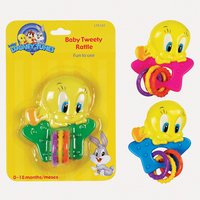 Baby Looney Tunes Tweety Rattle - 1