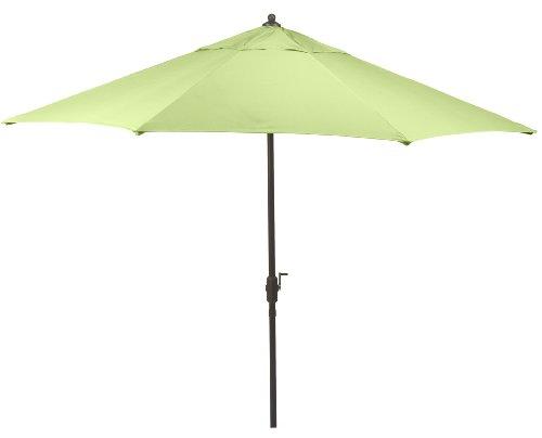 9' Sunbrella Auto Tilt Patio Market Umbrella - Olive Green