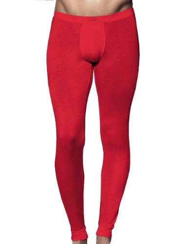HOM Herren Lange Unterhose 10112288 Silk 44 Inners LL, Gr. 5 (M), Rot (RED - DARK COMBINATION M006)