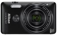 Nikon Coolpix S6900 Camera (Black) with 16 MP, 12x Optical Zoom, 8GB SDHC ,HDMI Cable & Case