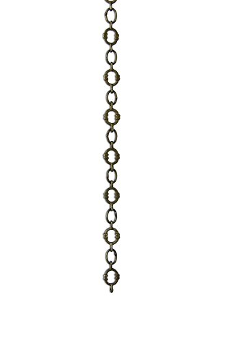 RCH Hardware CH-17-AB Chain #17, Small Round Solid Brass Chain with X Design Welded Link