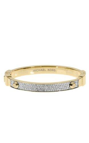Michael Kors Mkj1975 Crystal Pave Gold Bracelet
