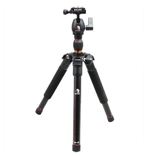 CowboyStudio BK-555 Folding Traveler Tripod with Ball Head for DSLR Camera Nikon Canon Sony Olympus, Great for Travel, Only 13in when Folded