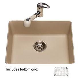 "Granite Mythos 23"" x 18"" Single Bowl Undermount Kitchen Sink Finish: Champagne"