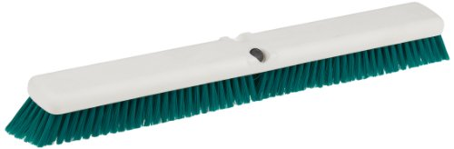 """Carlisle 4189109 Sparta Spectrum Omni Sweep Floor Sweep, Synthetic Bristles, 24"""" Overall Length, Green front-546027"""
