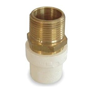 Industrial grade 2gka4 adapter 3 4 in slip x mpt cpvc for Copper pipe to plastic pipe