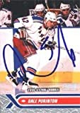 Dale Purinton, New York Rangers, 2000 Stadium Club Rookie Autographed Card