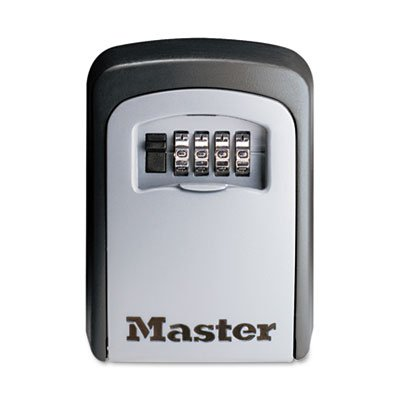 Master Lock® - Locking Combination 5-Key Steel Box, 3 7/8W X 1 1/2D X 4 5/8H, Black/Silver - Sold As 1 Each - For Children After School, Cleaning Or Maintenance Services, Vacation Properties And Elder Care Providers. front-972735