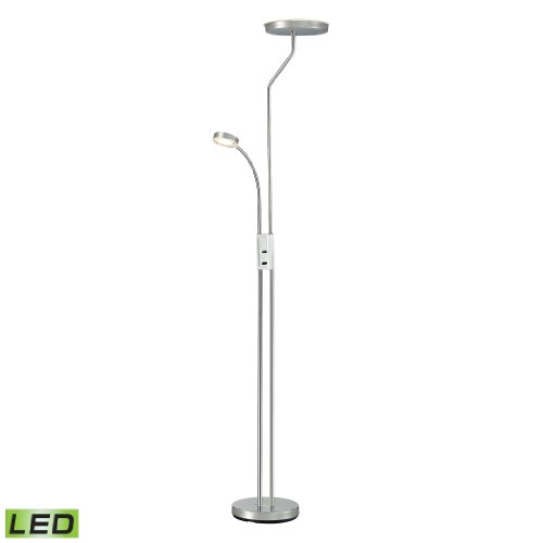 """71"""" Malone 2-Light Led Floor Lamp In Polished Chrome"""