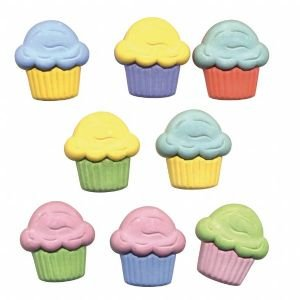 12 PACK BUTTON THEME PACKS CUPCAKES Papercraft, 