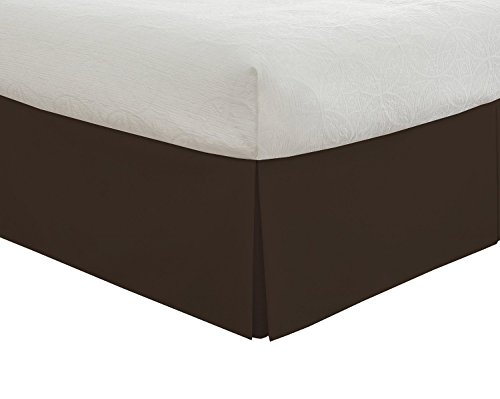 Best Price! Golden Linens Sold Color Microfiber 14-Inch Bed Skirt (King, Brown)