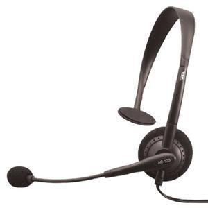New Black Oem Mono Headset/Mic (Headphones)